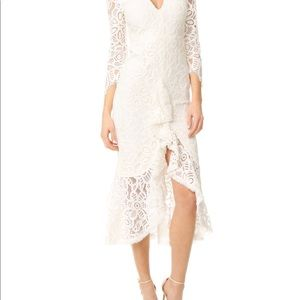 "Alexis - White ruffled lace ""Nadege"" dress"